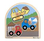 CHILDRENS CHILD MELISSA AND DOUG LARGE PEG CONSTRUCTION SITE PUZZLE JIGSAW